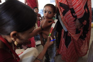 Measuring for malnutrition in Madhya Pradesh